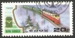 Sellos de Asia - Corea del norte -  2090 - locomotora eléctrica
