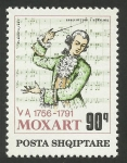 Stamps : Europe : Albania :  Mozart