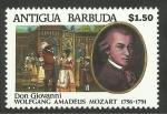 Stamps : America : Antigua_and_Barbuda :  Mozart