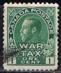 Sellos de America - Canadá -  Scott  MR1 George V (4)