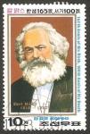 Sellos del Mundo : Asia : Corea_del_norte : 1745 - 165 anivº del nacimiento de Karl Marx
