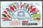 Sellos del Mundo : America : Ecuador : Visita del presidente del ecuador a la ONU