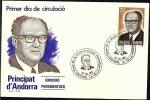 Stamps Andorra -  Personajes - J. Sansa Negui - SPD