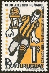 Sellos del Mundo : America : Uruguay : FUTBOL - CLUB ATLETICO PEÑAROL CAMPEON INTERCONTINENTAL 1966