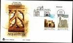 Stamps Spain -  Arquitectura - Catedral de Tui - Iglesia de San Martiño  Noia - SPD