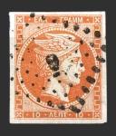 Stamps Greece -  Cabeza de Mercurio - 10 l.
