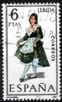 Stamps Spain -  1901 Trajes típicos españoles,  Lerida.