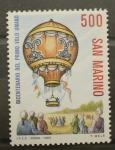 Stamps San Marino -  BICENTENARIO PRIMER VUELO EN GLOBO