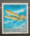 Stamps San Marino -  75 ANIVERSARIO PRIMER VUELO A MOTOR
