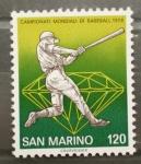 Sellos de Europa - San Marino -  CAMPEONATO MUNDIAL DE BEISBOL'78
