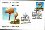 Stamps Andorra -  Micología - Lepiota Procera - SPD