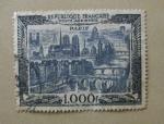Stamps France -  Vista de Paris.