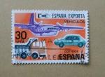 Sellos de Europa - España -  España exporta. Vehiculos.