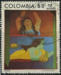 Stamps Colombia -  SC650 - Nayade - Beatriz González