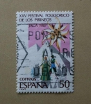 Sellos de Europa - España -  Festival Folklorico de los Pirineos