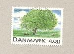 Sellos de Europa - Dinamarca -  Fagus sylvatica