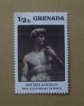 Stamps Grenada -  Michelangelo. Aniversario.