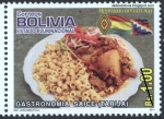 Stamps of the world : Bolivia :  Gastronomía boliviana - Saice tarijeño