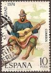 Sellos de Europa - España -  Navidad 1974-El gaucho Martin Fierro