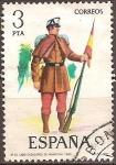Sellos del Mundo : Europa : España : Nº33.Cabo cazadores de infanteria 1860