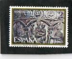 Sellos de Europa - España -  2217- NAVIDAD 1974. EL NACIMIENTO , RENEDO DE VALDAVIA.