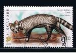Stamps : Asia : Singapore :  Large Indian Civet.  Viverra zibetha