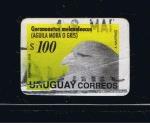 Sellos del Mundo : America : Uruguay : Geranoaetus melanoleucus  ( Aguila mora o gris. )