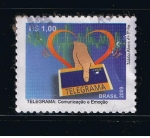 Sellos del Mundo : America : Brasil : Telegrama:  Comuniçäo e Emoçäo