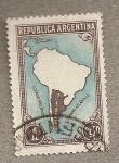 Sellos de America - Argentina -  Mapa
