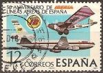 Sellos del Mundo : Europa : España : 50.Aniversario de Iberia lineas aereas de España
