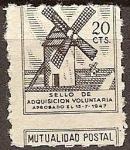 Sellos del Mundo : Europa : España : sello de adquisición voluntaria 1947.(Aprobado el 15-7-1947)