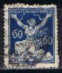 Sellos de Europa - Checoslovaquia -  Scott  73  Checoslovaquia rompiendo la cadenas de la livertad