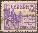 Sellos del Mundo : Europa : España : Auxilio a las victimas de la gerra 1946