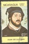 Stamps : America : Nicaragua :  1171 - Juan De La Cosa, navegante