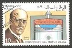 Stamps : Africa : Morocco :  Rudolf Diesel, desarrollo del motor diesel