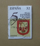Sellos de Europa - España -  500 años de la fundacion de San Cristobal de la Laguna