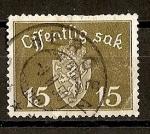 Stamps Europe - Norway -  Escudo de Noruega - Servicio.