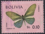Stamps Bolivia -  Mariposas en colores naturales