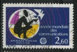 Sellos del Mundo : Europa : Francia : S1862 - Año Mundial de las Comunicaciones