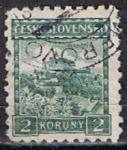 Stamps Czechoslovakia -  Scott  134  Castillo Pernestan (8)