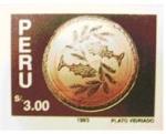 Sellos del Mundo : America : Perú :  PLATO VIDRIADO