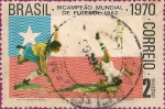 Sellos de America - Brasil -  Tricampeón Mundial de Fútbol: Bicampeón Mundial de Futbol 1962.