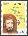 Stamps : Africa : Republic_of_the_Congo :  953 - Juan De La Cosa, navegante