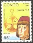 Stamps : Africa : Republic_of_the_Congo :  954 - Martin Alonso Pinzon, navegante