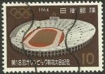 Stamps : Asia : Japan :  787 - olimpiadas de Tokio, estadio nacional de Tokio