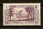 Sellos del Mundo : Oceania : Polynesia : Establecimiento Frances de Oceania - Colonia.