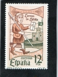 Stamps Spain -  2621- DIA DEL SELLO 1981- CORREOS DE CASTILLA.