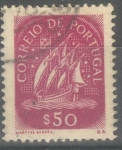 Stamps : Europe : Portugal :  PORTUGAL_SCOTT 621.02 VELERO ANTIGUO 50C. $0.2