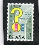 Sellos de Europa - Espa�a -  2313- SEGURIDAD VIAL. ADELANTAMIENTO EN CURVA.