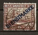 Sellos de Europa - Francia -  Sarre - Ocupacion Francesa - Servicio.